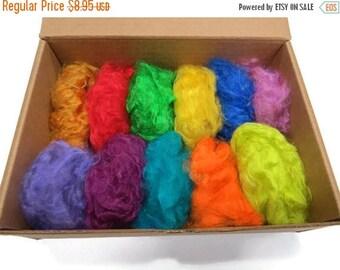 SALE Super Soft Pulled Silk fiber, Multi Mix