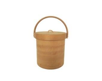 Vintage Georges Briard Wooden Ice Bucket