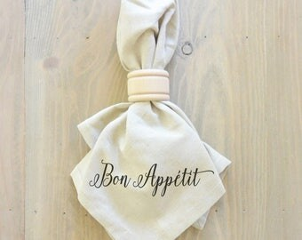 Bon Appetit Napkin (Style 2)_everyday, table setting, tableware, place setting, housewarming gift, party, dinner, event