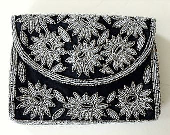 French Beaded Deco Clutch