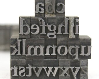 Letterpress Lowercase Letters / Vintage Foundry Type / Pick Your Metal Letters