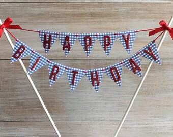 Wizard of Oz Cake Banner. Glitter Happy Birthday Cake Banner Topper