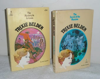Trixie Belden Oval SC Golden Books~ #1 Secret of The Mansion & #6 Mystery in Arizona