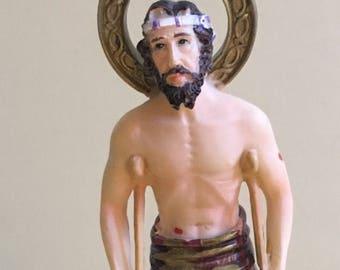 Free Shipping ~ San Lazaro Saint Lazarus Catholic Saint Religious Statue 6 inches Santeria