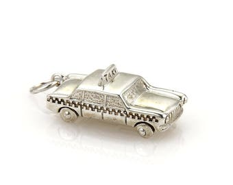 20239M - Vintage Tiffany & Co. 3D Taxi Cab Sterling Silver Charm