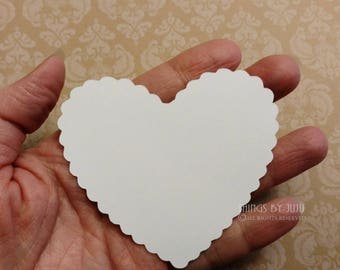 White Paper Hearts Mom To Be Advice Cards  Bridal Shower Escort Cards Wish Tags Date Night Cards Wedding Place Cards Die Cut Hearts (3x2.75)