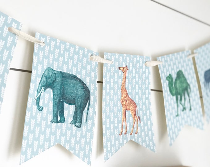 Featured listing image: Zoo Animal Bunting