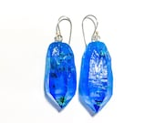 MADE TO ORDER Blue Resin and Gold Leaf Gem Drops