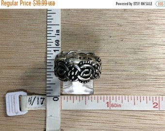 10% OFF 3 day sale Vintage 925 Sterling Silver 9.6g Knotwork Ring Size 6.5 Used