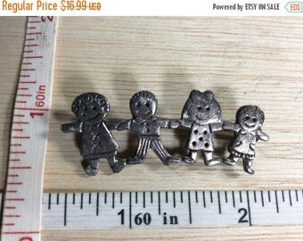 10% OFF 3 day sale Vintage Pin Brooch Children 925 Sterling Silver 6.9g Used