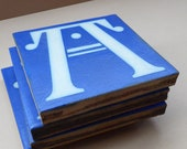 """Antique MAW & CO Encaustic Floor Tile. A Gothic Letter """"A"""" from the Alphabet Series. 1880s"""