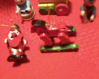 Miniature Christmas dollhouse ornaments