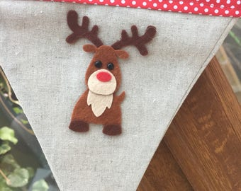 Reindeer  Bunting  12 Flags .Christmas Garlands. Home .Home for Christmas. Christmas Decorations. Noric  Christmas Decoration