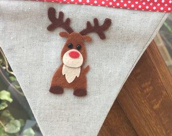 Reindeer  Bunting  12 Flags .Christmas Garlands. Home .Home for Christmas. Christmas Decorations. Noric  Christmas Decoration