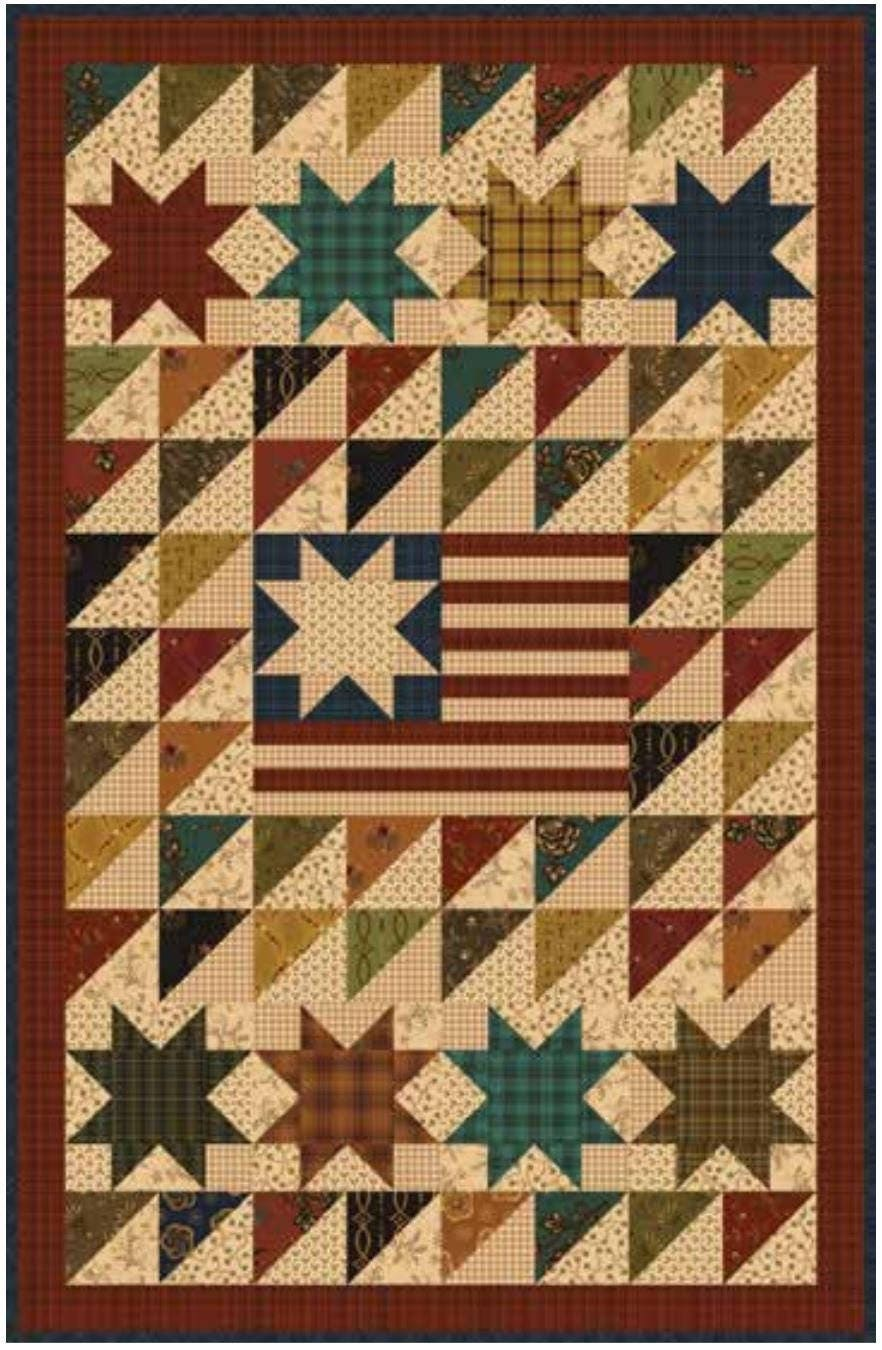 Kim Diehl Quilt Kit. Old Glory Simple Whatnots Club Collection 7 ... : old glory quilt - Adamdwight.com