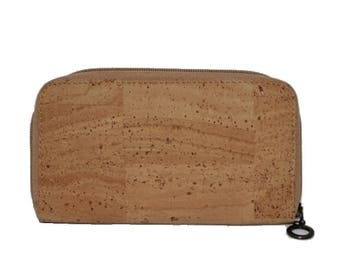 Wallet Cork for Lady with zipper