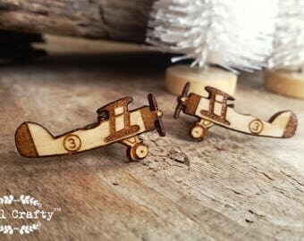 Vintage Airplan Wooden Cufflinks Aeroplane Plane Retro Dad Grooms Best man Groomsman Rustic Wedding Birthday Gift Cuff links