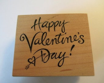 "Rubber Stamp "" Happy Valentines Day""  used good condition"
