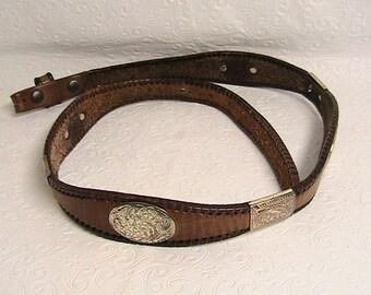 """Women's Western Belt, Women's Leather belt, Western belt, No Buckle, Size 30"""""""