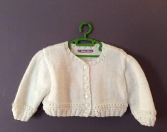 White baby vest