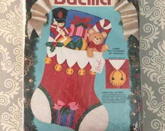 Bucilla Felt Christmas Stocking Kit - Chock Full of Toys - JUMBO
