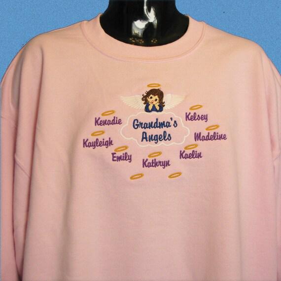 Grandma Shirt Valentine Gift, Grandma's Sweeties Personalized Grandmother Sweatshirt, Grandparent Shirt, Grandchildren Shirt, Nana or Memaw