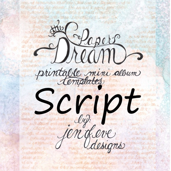 The Paper Dream Printable Mini Album Templates in Script and Plain
