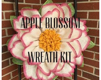 Apple Blossom Wreath Kit, Apple Blossom Tutorial, Apple Blossom Wreath Kit and Tutorial, Julie's Wreath Boutique Tutorial's, DIY, Wreath Kit
