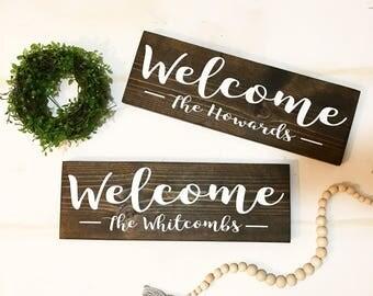 Welcome - Family Name Sign / Welcome Sign / Welcome / Family Name / Family Sign / Front door decor