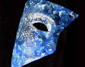 Blue Mandala Half Mask