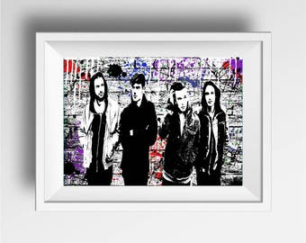 The 1975 band poster print