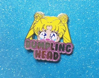 VERSION 2.0 Sailor Moon Dumpling Head Usagi Tsukino Hard Enamel Lapel Pin Glitter