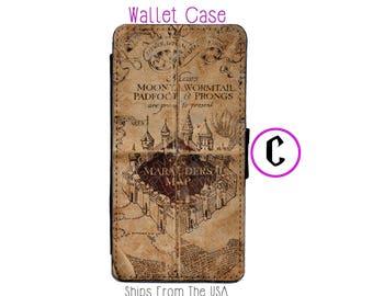 iPhone 7 Case - iPhone 7 Wallet Case - iphone 7 - iPhone 7 Wallet - Harry Potter iphone 7 case C - Marauder Map iphone 7 case