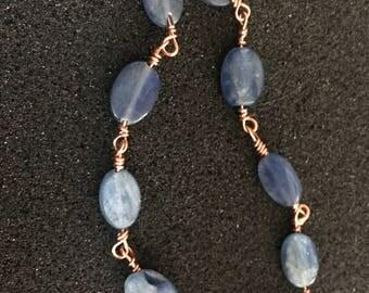 Blue Kyanite & Copper Bracelet