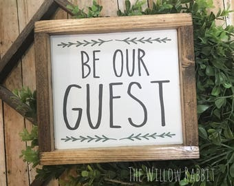 Be Our Guest   Guest Room   Farmhouse Decor   Be Our Guest Sign   Guest Room Decor