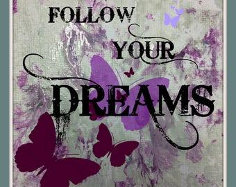 Crystal Pink Glitter Butterfly Wallpaper