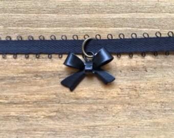 Black Bow Choker