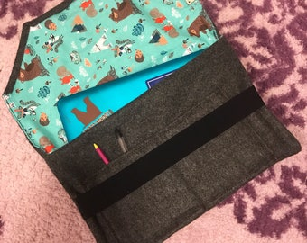 Wool & Fleece Laptop Tablet Sleeve