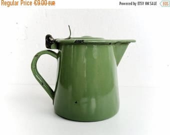 ON SALE Vintage kitchen enamelware, Small enamel jug