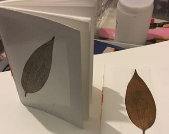 Pressed leaf journal #lily