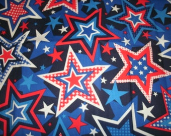 Free Shipping! on 2 Red White & Blue Star Sofa Pillow Covers, Holiday Pillow Covers, Seasonal Pillow Covers, American Decor, Patriotic Decor