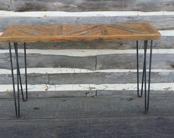 Free Shipping / SideTable / Hallway Table / Chevron Table / Reclaimed Wood  / Reclaimed Oak
