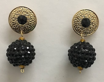 Black and Gold Omega Collection Earrings