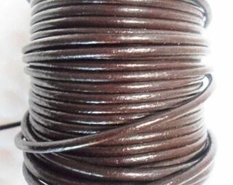 LIQUIDATION: 5 feet 2mm Round Brown Cord,