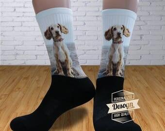 Personalized Socks - Custom Socks with Sayings, Pet Photo Socks, Animal Socks, Socks for Men Women, Dog Pattern Socks,Gift for Father Mother