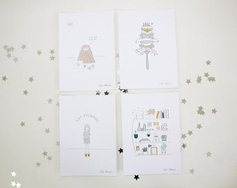 Bad Habits Print Set