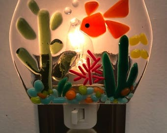 Fish bowl nightlight