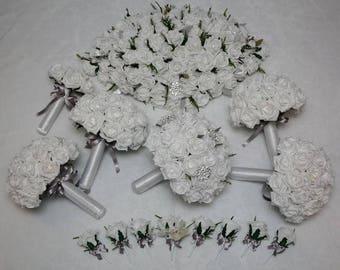 Artificial foam flower package