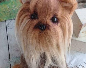 Little Puppy Tessy Yorkshire Terrier  8.6  inch Artist Teddy Bear Stuffed Toys Bear  OOAK