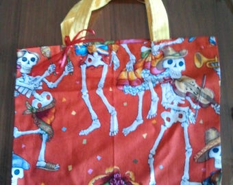 Day of the Dead dancing skeleton purse
